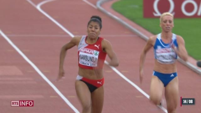 Championnats d'Europe d'athlétisme: Mujinga Kambundji fait tomber les records nationaux [RTS]