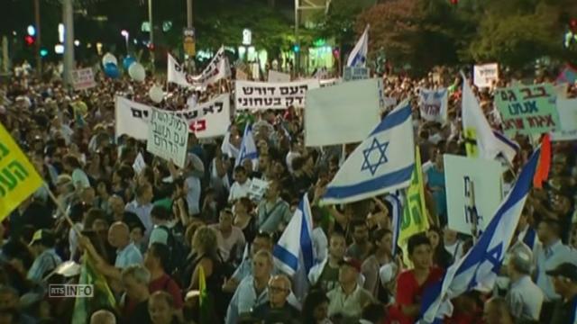 Grande manifestation pro-Israel a Tel Aviv [RTS]