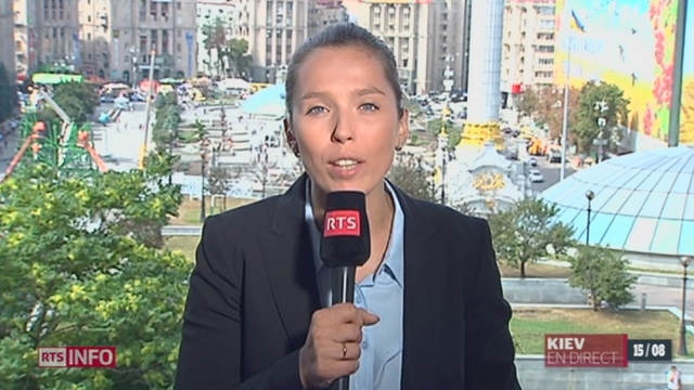 Convoi humanitaire russe controversé en Ukraine: les observations de Ksenia Bolchakova, à Kiev [RTS]