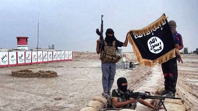 Des djihadistes de l'Etat islamique dans la province de Salâh ad-Dîn, en juin dernier. [Welayat Slahuddin/HO - AFP]