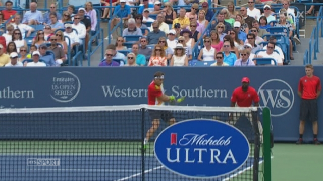 Finale: David Ferrer (ESP)  -  Roger Federer (SUI). 1re manche: L'Espagnol a des arguments à faire valoire [RTS]