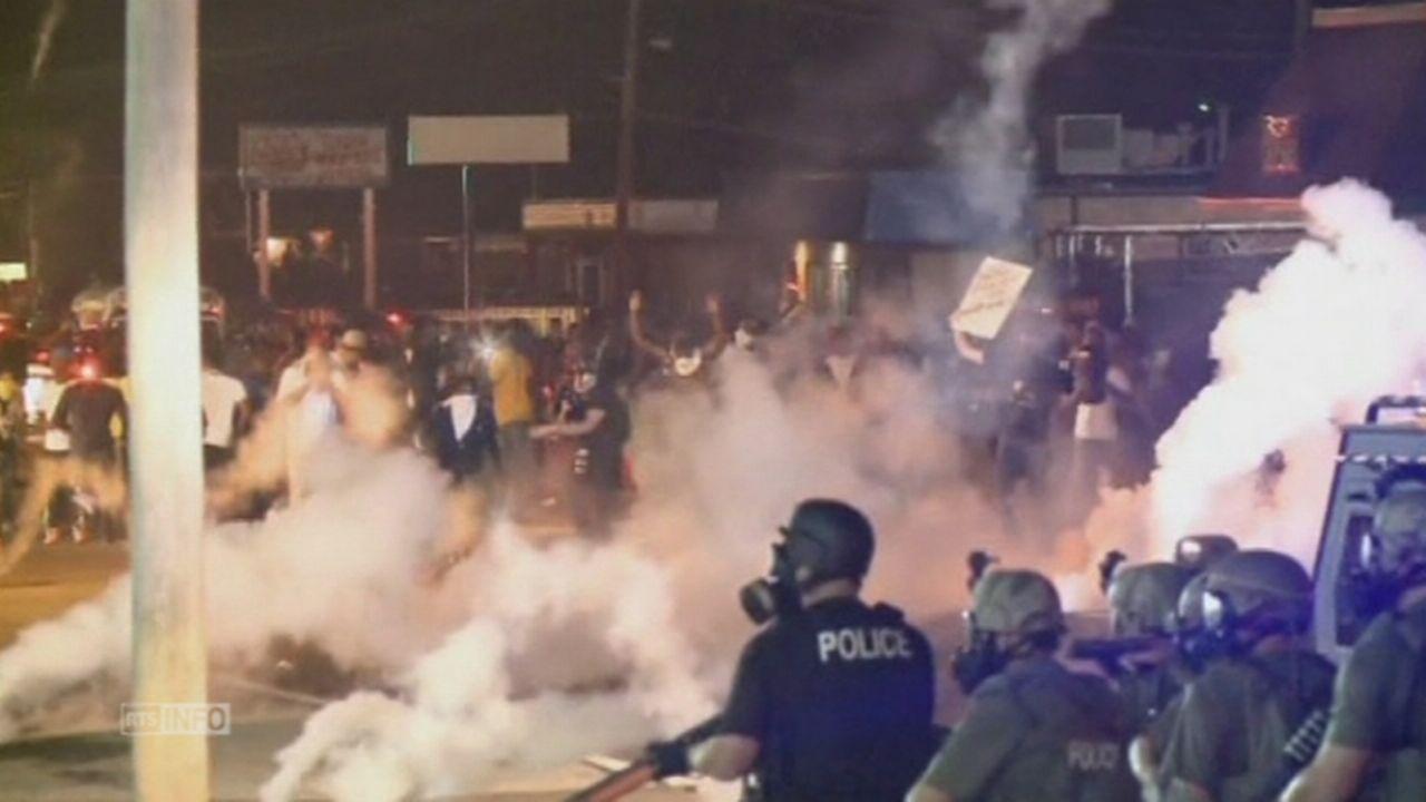 Nouveaux affrontements dans la ville de Ferguson aux USA [RTS]