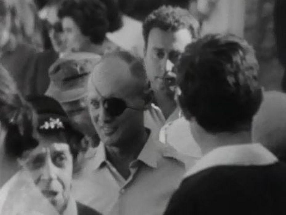 Le général Moshe Dayan, héros de la Guerre des Six-Jours. [RTS]