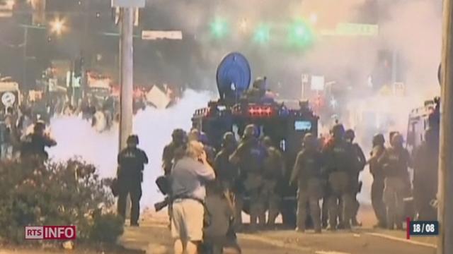 Des affrontements violents ont encore eu lieu dans la ville de Ferguson aux États-Unis [RTS]