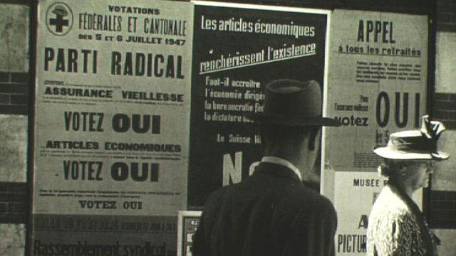 Campagne avant votation pour l'AVS, 1947 [RTS]