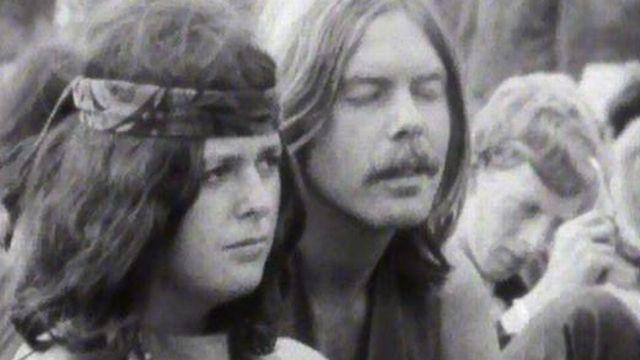 Les hippies se sont donnés rendez-vous sur l'île de Wight. [RTS]