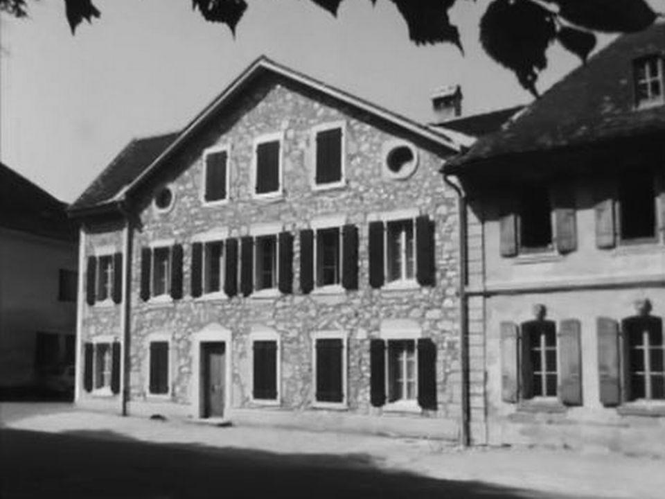 La maison de Jean-Jacques Rousseau à Môtiers. [RTS]