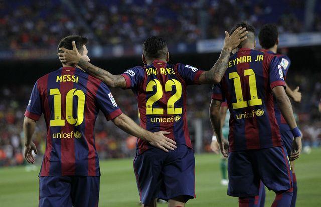 L'effectif latino-américain du FC Barcelone promet de faire des étincelles. [Emilio Morenatti - AP Photo]