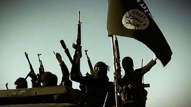Combattants de l'Etat islamique dans la province d'Anbar (vidéo de propagande). [AL-FURQAN MEDIA - AFP]