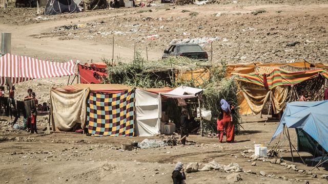 Un camp de réfugiés yazidis à Dohuk, au Kurdistan. [Gail Orenstein - NurPhoto]