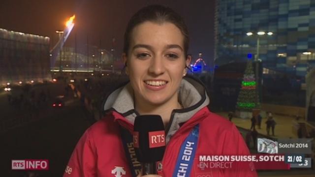 JO de Sotchi - L'équipe féminine de Hockey remporte le bronze: les explications de Sarah Forster, joueuse de l'équipe de hockey [RTS]