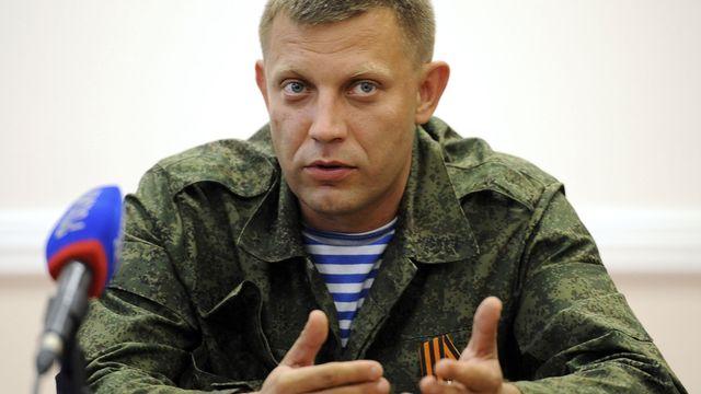 """Le Premier ministre de la """"république"""" autoproclamée de Donetsk, Alexander Zakhartchenko. [Alexander Khudoteply - AFP]"""
