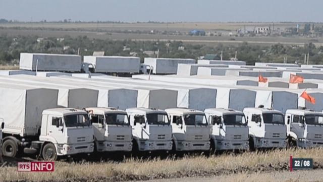 Ukraine: le convoi d'aide humanitaire russe a repris la route ce matin [RTS]