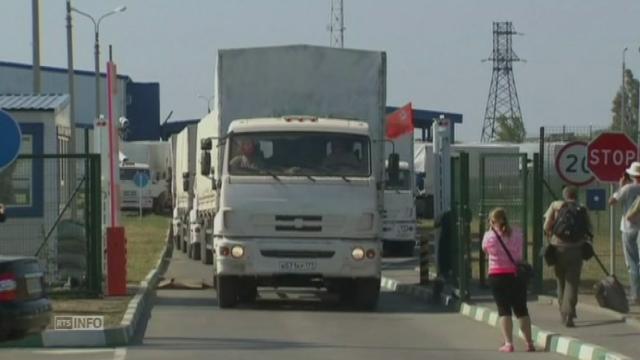 Le convoi russe retourne en Russie [RTS]