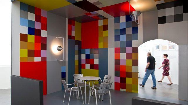"""L'installation """"Bar Aubette"""" de Sophie Täuber-Arp. [Keystone]"""