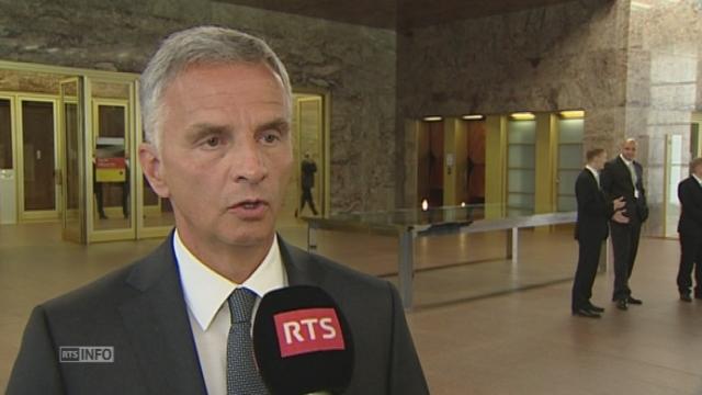 Didier Burkhalter s exprime sur la crise ukrainienne a Berlin [RTS]