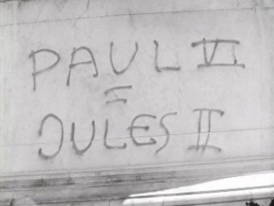 A Genève, la prochaine visite de Paul VI est contestée. [RTS]