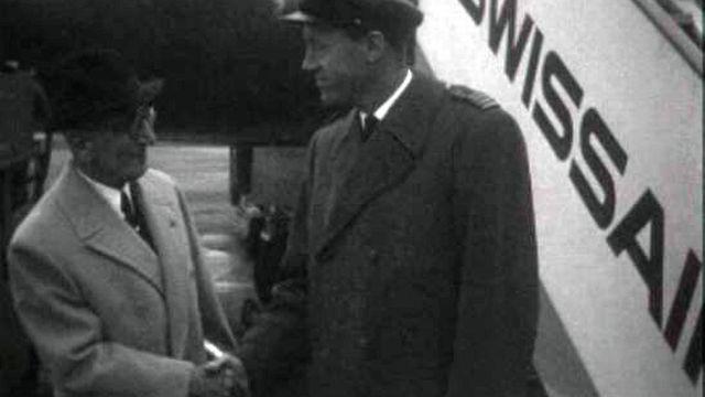 Edmon Audemars, Gabriel Voisin et François Durafour réunis.