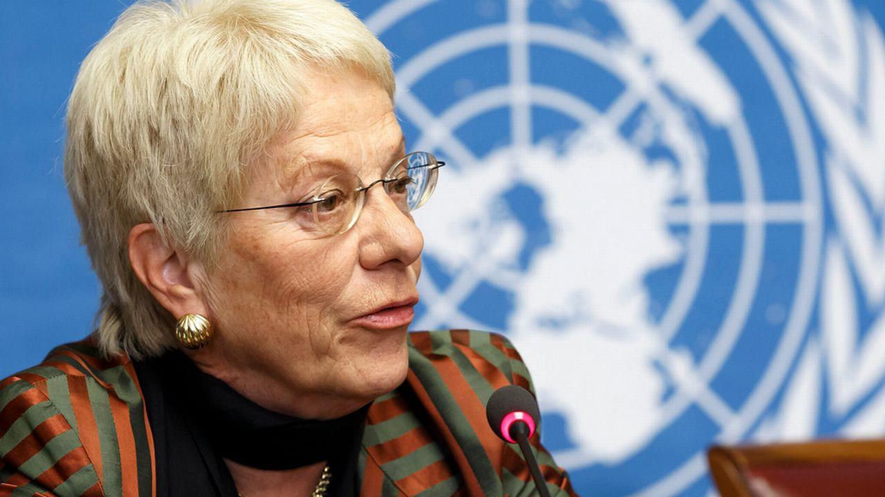 Carla del Ponte est membre de la commission d'enquête sur la Syrie. [Salvatore Di Nolfi - Keystone]