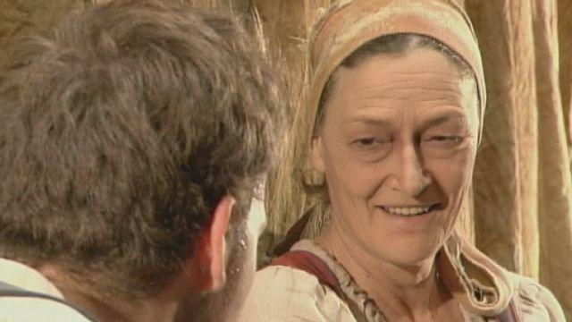 """Véronique Mermoud dans """"Mère Courage"""" de Brecht, en 2005. [RTS]"""