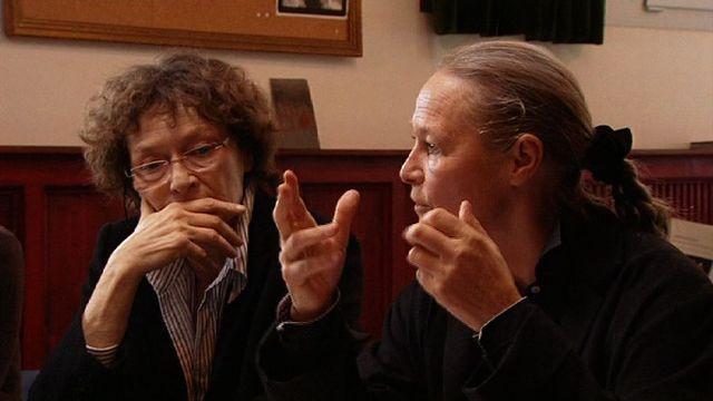 Gisèle Sallin et Véronique Mermoud en 2009. [RTS]
