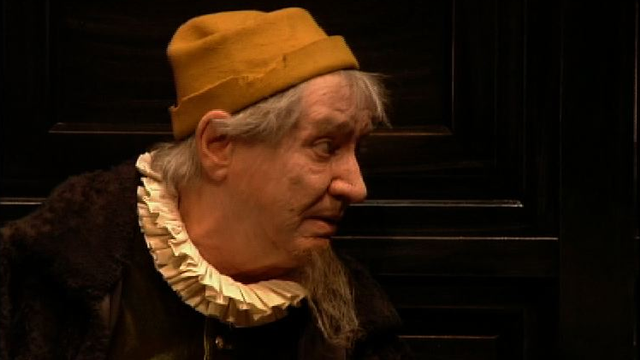 Roger Jendly dans L'avare de Molière, en 2005. [RTS]