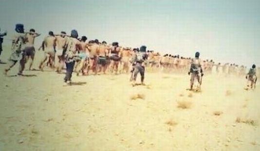 L'Etat islamique a partagé sur Twitter mercredi des images montrant les soldats syriens faits prisonniers. [DR]