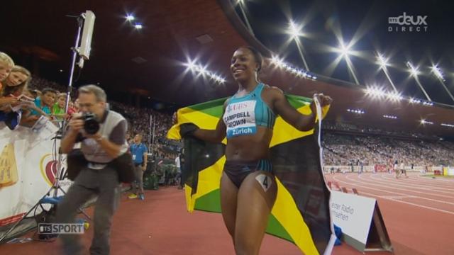 100 m dames. Mujinga Kamboudji 8e en 11''36 [RTS]