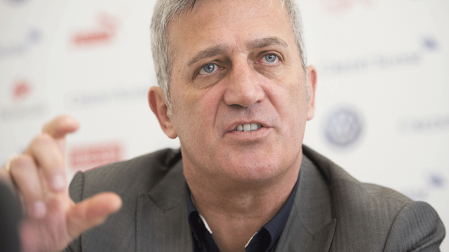 Vladimir Petkovic fait ses débuts à la tête de l'équipe de Suisse de football.  [Gian Ehrenzeller - Keystone]