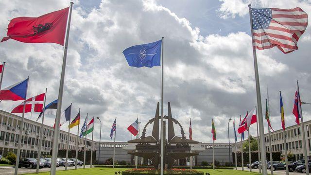 L'OTAN se réunit d'urgence pour parler de la crise en Ukraine. [AP Photo/Olivier Matthys - Keystone]