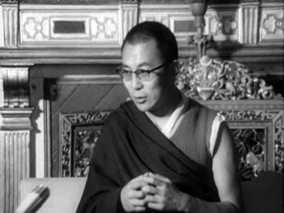 Le Dalaï Lama intervient lors de la journée de réfugiés.