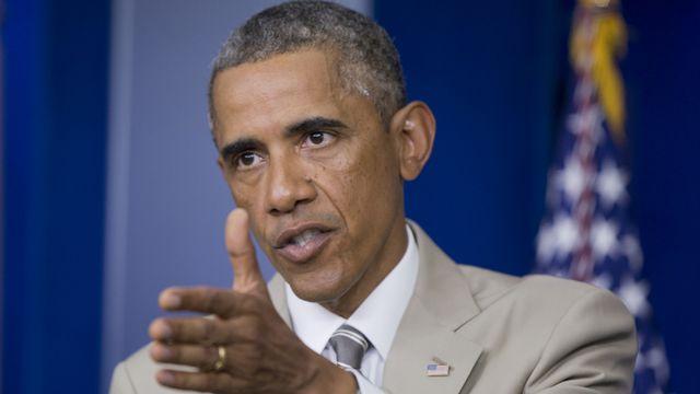 Barack Obama a évoqué les dossiers internationaux lors de sa conférence de presse jeudi. [AP Photo/Manuel Balce Ceneta) - Keystone]