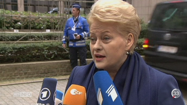 Le dossier ukrainien est au coeur du sommet européen de Bruxelles [RTS]