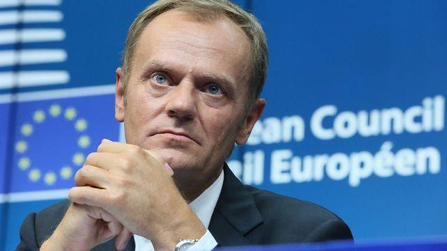 Le Premier ministre polonais Donald Tusk remplace le Belge Herman Van Rompuy, au poste de président du Conseil de l'Union européenne. [EPA/Julien Warnand - Keystone]