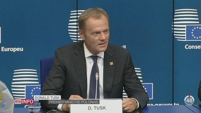 Le premier ministre polonais Donald Tusk prend la présidence du Conseil européen [RTS]