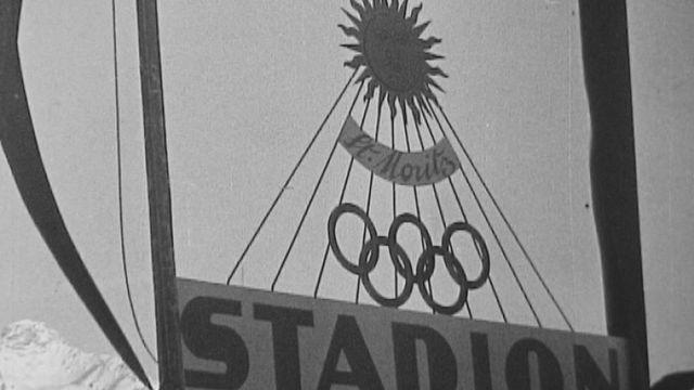 Les JO de 1948 à St-Moritz aux Grisons. [RTS]