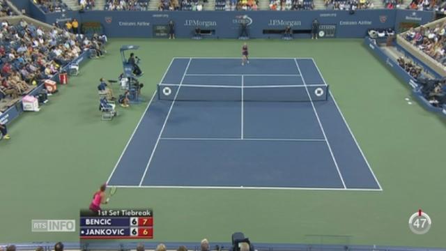 Tennis - US Open: la Suissesse Benlinda Bencic est en quarts de finale [RTS]