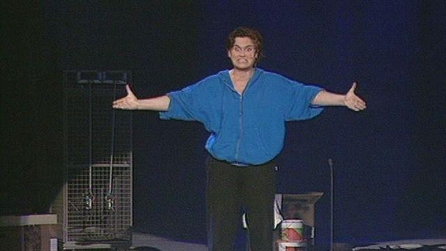l'humoriste Anne Jenny au Théâtre des Osses en 1997. [RTS]