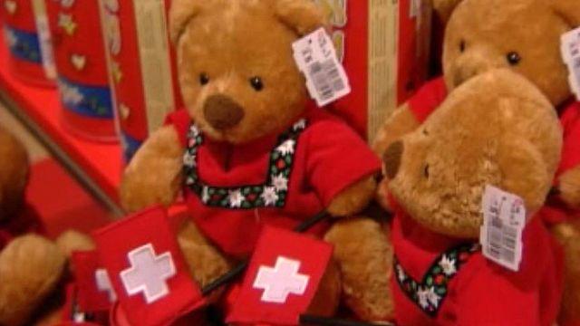 La croix suisse fait vendre des produits les plus divers.