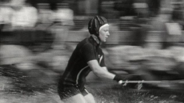 Concours de ski nautique à Genève en 1964. [RTS ]