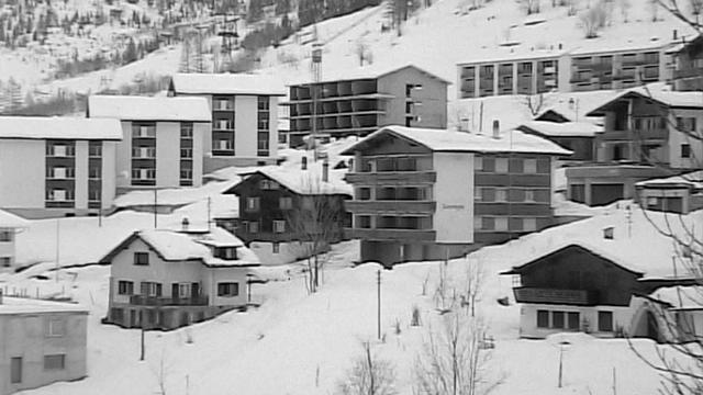 Loèche-les-Bains en 1969. [RTS]