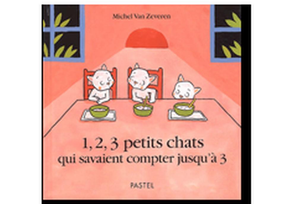 """""""1, 2, 3 petits chats qui savaient compter jusqu'à 3"""" de Michel Van Zeveren. [RTS]"""