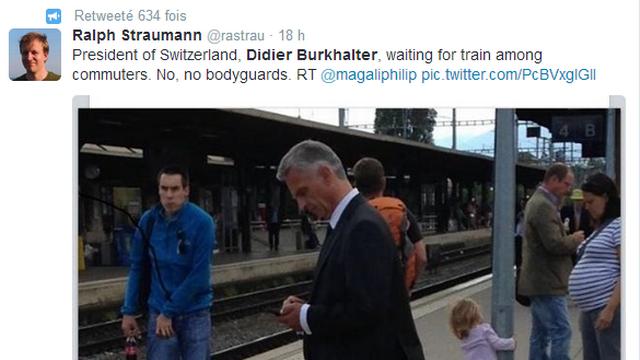 Le Tweet en anglais de Ralph Straumann qui a engendré le buzz mondial. [Twitter]