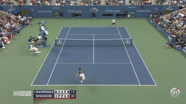 Tennis - US Open: Stanislas Wawrinka a perdu contre le Japonais Kei Nishikori en quarts de finale [RTS]