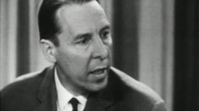 Hans Tschudi en 1966. [RTS]