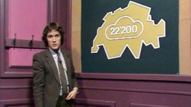 Le journaliste Eric Burnand présente les chiffres du chômage en 1982. [RTS]
