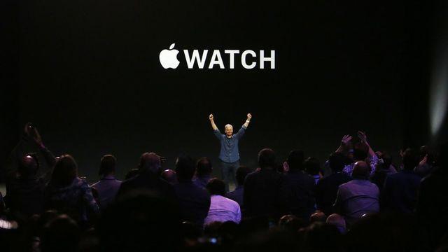 Tim Cook, le patron d'Apple, a dévoilé la première montre connectée du géant américain. [Monica Davey - Keystone]