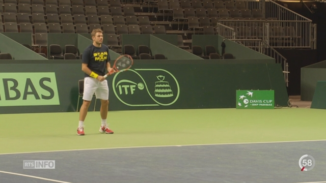 La 1-2 finale de Coupe Davis entre la Suisse et l'Italie aura lieu à Genève [RTS]