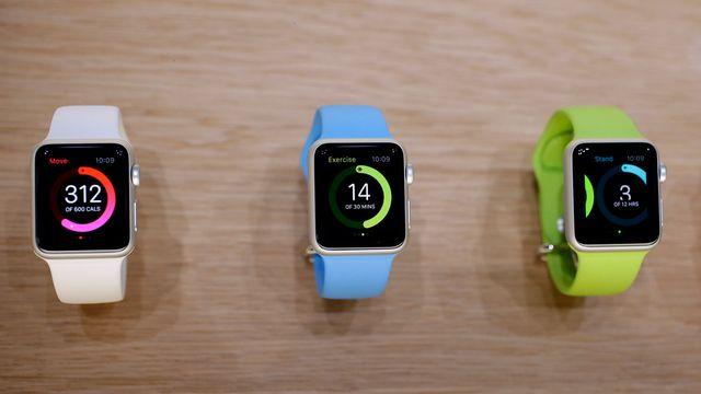 L'Apple Watch pourra mesurer le nombre de calories dépensées par jour. [Marcio Jose Sanchez - AP Photo - Keystone]