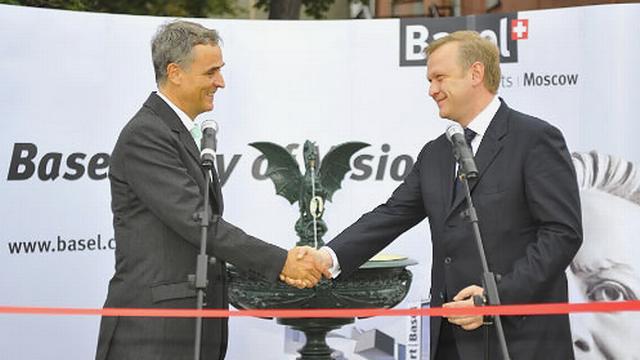 Le président du Conseil d'Etat de Bâle-Ville Guy Morin s'était déplacé à Moscou dans le même cadre en 2012. [basel.ch]